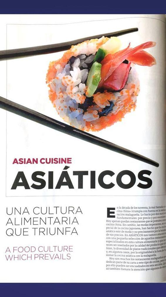 """Reportaje """"Una cultura Alimentaria que triunfa"""" - pag 2 - ROCÍO TAPAS Y SUSHI"""
