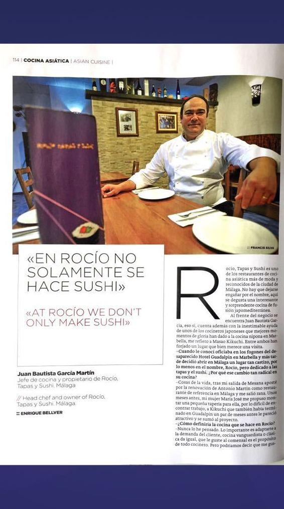 """Reportaje """"Una cultura Alimentaria que triunfa"""" - pag 5 - ROCÍO TAPAS Y SUSHI"""